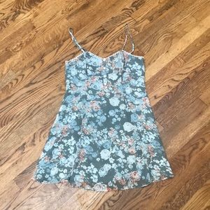 Floral spaghetti strap BCBG dress